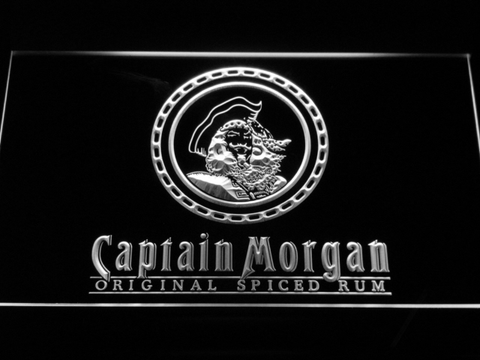 Image of Captain Morgan Original Spiced Rum LED Neon Sign - White - SafeSpecial