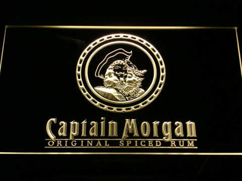 Captain Morgan Original Spiced Rum LED Neon Sign - Yellow - SafeSpecial