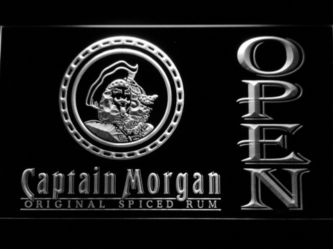 Image of Captain Morgan Original Spiced Rum Open LED Neon Sign - White - SafeSpecial