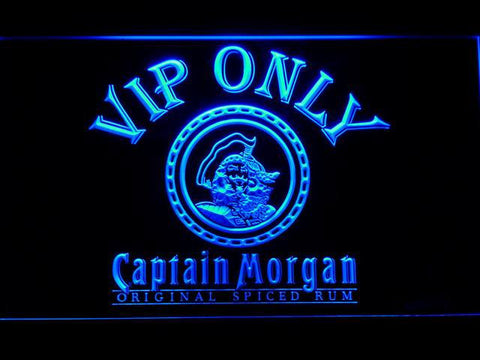 Captain Morgan Original VIP Only LED Neon Sign - Blue - SafeSpecial