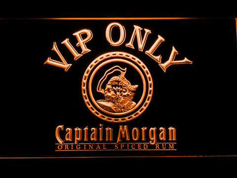 Captain Morgan Original VIP Only LED Neon Sign - Orange - SafeSpecial