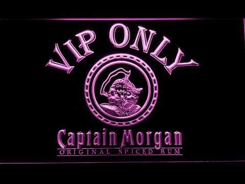 Captain Morgan Original VIP Only LED Neon Sign - Purple - SafeSpecial