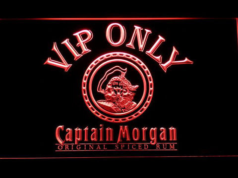 Captain Morgan Original VIP Only LED Neon Sign - Red - SafeSpecial