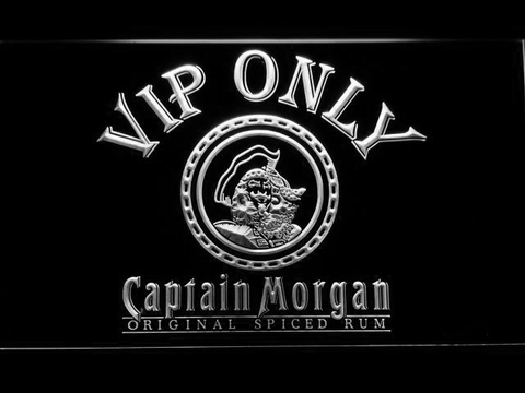 Captain Morgan Original VIP Only LED Neon Sign - White - SafeSpecial
