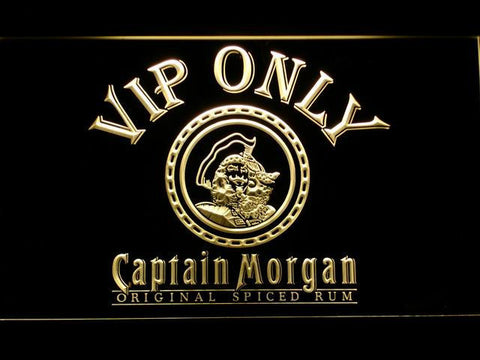 Captain Morgan Original VIP Only LED Neon Sign - Yellow - SafeSpecial