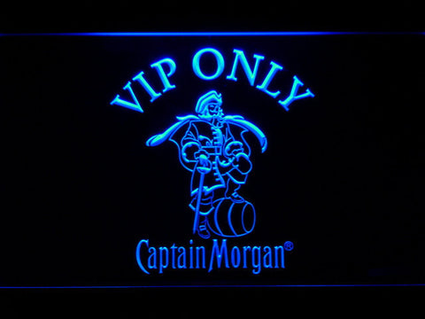 Image of Captain Morgan VIP Only LED Neon Sign - Blue - SafeSpecial