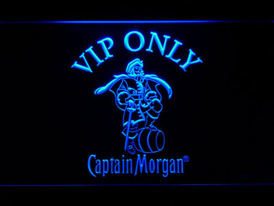 Captain Morgan VIP Only LED Neon Sign - Blue - SafeSpecial