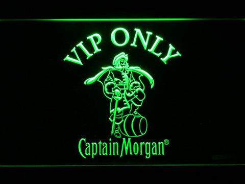 Image of Captain Morgan VIP Only LED Neon Sign - Green - SafeSpecial