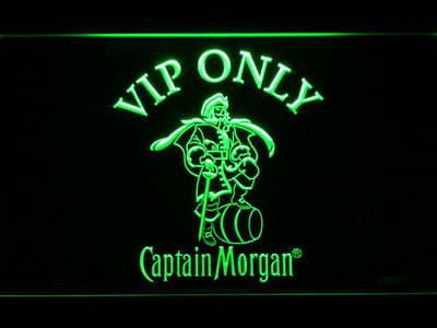 Captain Morgan VIP Only LED Neon Sign - Green - SafeSpecial