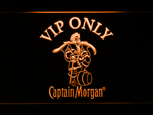 Captain Morgan VIP Only LED Neon Sign - Orange - SafeSpecial