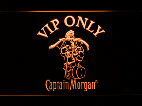 Image of Captain Morgan VIP Only LED Neon Sign - Orange - SafeSpecial