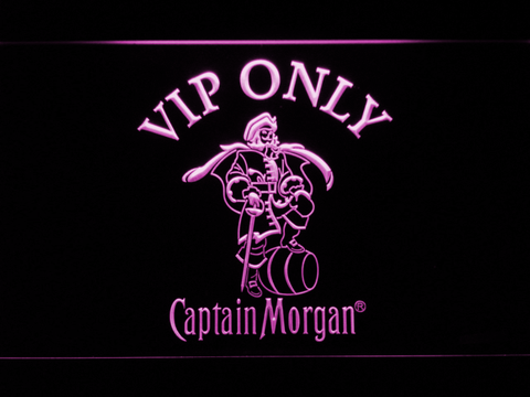 Captain Morgan VIP Only LED Neon Sign - Purple - SafeSpecial
