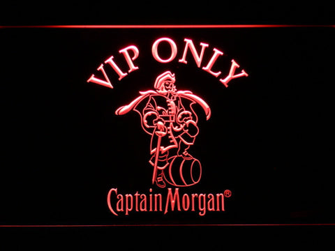 Captain Morgan VIP Only LED Neon Sign - Red - SafeSpecial