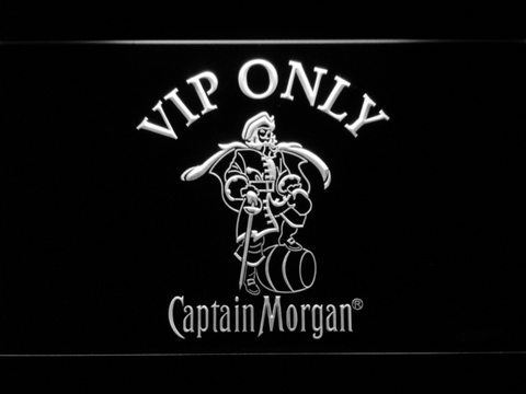 Image of Captain Morgan VIP Only LED Neon Sign - White - SafeSpecial