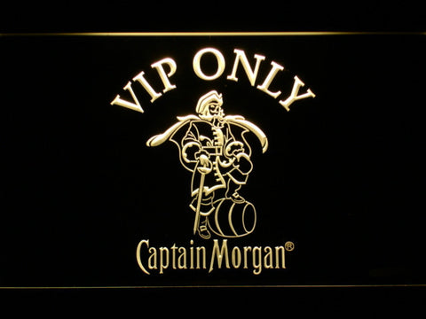 Image of Captain Morgan VIP Only LED Neon Sign - Yellow - SafeSpecial