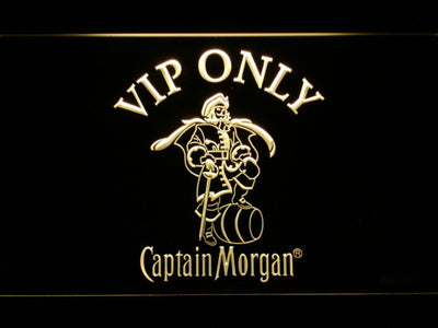 Captain Morgan VIP Only LED Neon Sign - Yellow - SafeSpecial