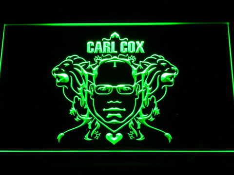 Image of Carl Cox LED Neon Sign - Green - SafeSpecial