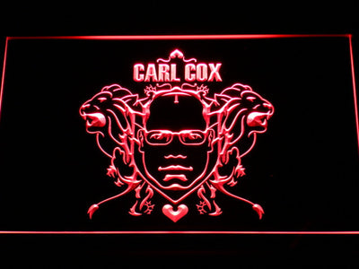 Carl Cox LED Neon Sign - Red - SafeSpecial