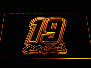 Carl Edwards Signature 19 LED Neon Sign - Yellow - SafeSpecial