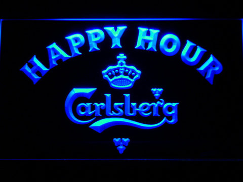 Image of Carlsberg Happy Hour LED Neon Sign - Blue - SafeSpecial