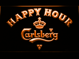 Carlsberg Happy Hour LED Neon Sign - Orange - SafeSpecial