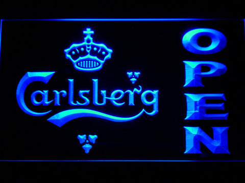 Carlsberg Open LED Neon Sign - Blue - SafeSpecial