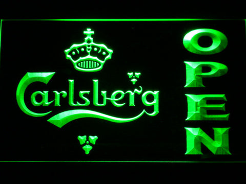Carlsberg Open LED Neon Sign - Green - SafeSpecial