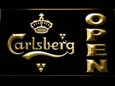 Carlsberg Open LED Neon Sign - Yellow - SafeSpecial