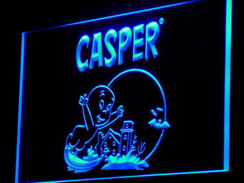 Casper The Friendly Ghost LED Neon Sign - Blue - SafeSpecial