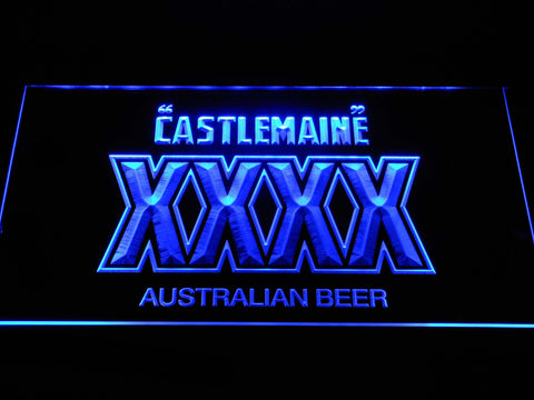 Image of Castlemaine XXXX LED Neon Sign - Blue - SafeSpecial