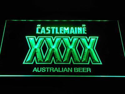 Castlemaine XXXX LED Neon Sign - Green - SafeSpecial