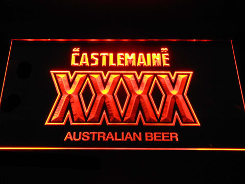 Image of Castlemaine XXXX LED Neon Sign - Orange - SafeSpecial