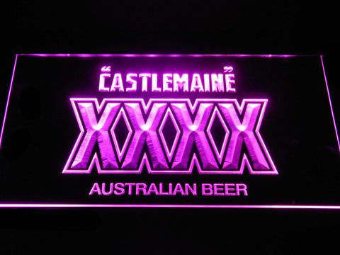 Image of Castlemaine XXXX LED Neon Sign - Purple - SafeSpecial
