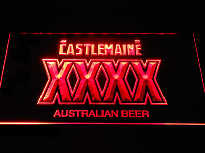 Castlemaine XXXX LED Neon Sign - Red - SafeSpecial