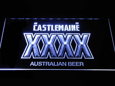 Castlemaine XXXX LED Neon Sign - White - SafeSpecial