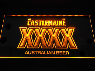 Castlemaine XXXX LED Neon Sign - Yellow - SafeSpecial