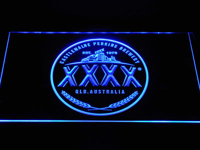 Castlemaine XXXX Logo LED Neon Sign - Blue - SafeSpecial
