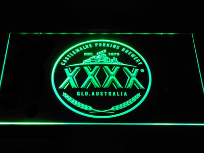 Castlemaine XXXX Logo LED Neon Sign - Green - SafeSpecial