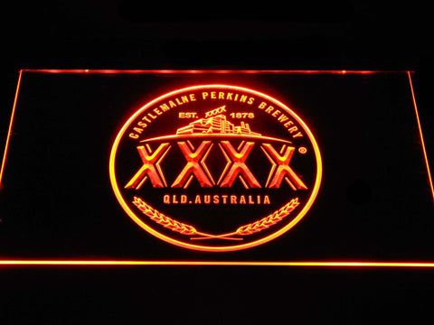 Image of Castlemaine XXXX Logo LED Neon Sign - Orange - SafeSpecial