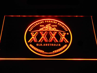Castlemaine XXXX Logo LED Neon Sign - Orange - SafeSpecial