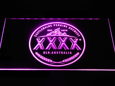 Image of Castlemaine XXXX Logo LED Neon Sign - Purple - SafeSpecial