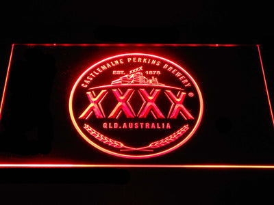Castlemaine XXXX Logo LED Neon Sign - Red - SafeSpecial