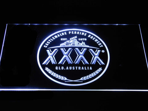 Image of Castlemaine XXXX Logo LED Neon Sign - White - SafeSpecial