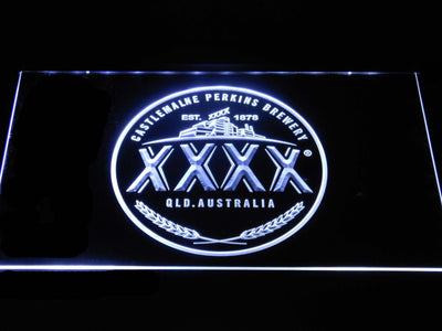 Castlemaine XXXX Logo LED Neon Sign - White - SafeSpecial