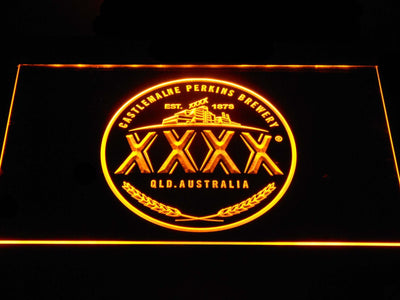 Castlemaine XXXX Logo LED Neon Sign - Yellow - SafeSpecial