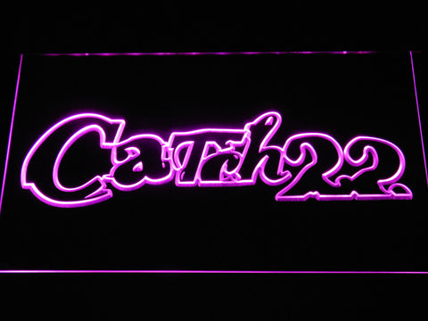 Image of Catch 22 LED Neon Sign - Purple - SafeSpecial