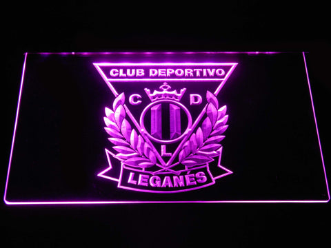 Image of CD Leganes LED Neon Sign - Purple - SafeSpecial