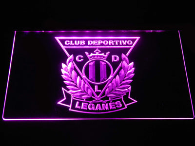 CD Leganes LED Neon Sign - Purple - SafeSpecial