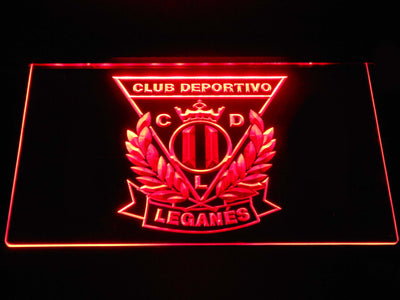 CD Leganes LED Neon Sign - Red - SafeSpecial