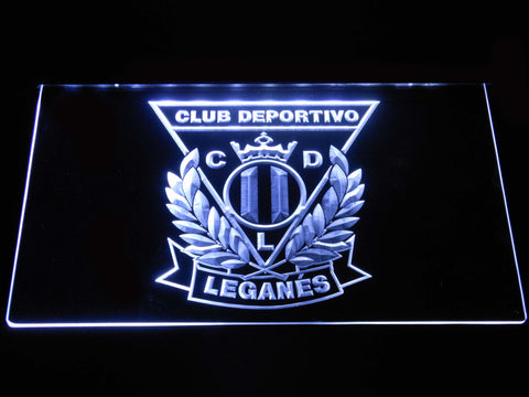 Image of CD Leganes LED Neon Sign - White - SafeSpecial